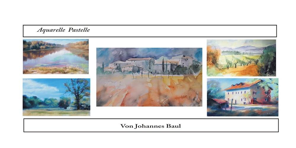Johannes Baul, Aquarelle, Pastelle,