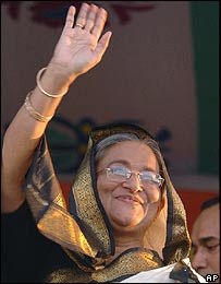 Sheikh Hasina Wajed - Bangladesh premier Hasina+Wajid