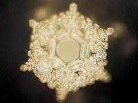 Este es el cristal que se formó cuando Emoto enrolló en una botella con agua un papel con las palabras