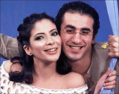 منى ذكى وزوجها احمد حلمى