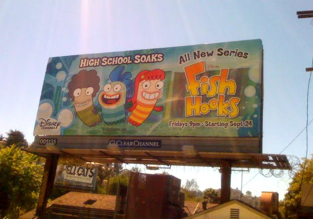 new show for tweens and teens called Fish Hooks. The show is a cartoon,