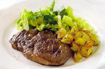 ... for a delicious taste of Grilled steak with lemon pepper potatoes