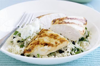 Chargrilled chicken with mint & currant couscous Chargrilled+chicken+with+mint+%2526+currant+couscous+recipe