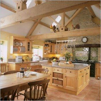 A Cozinha decorativa.