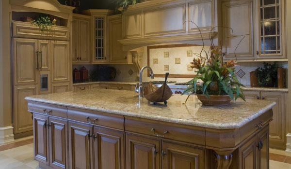 Uma cozinha com glamour