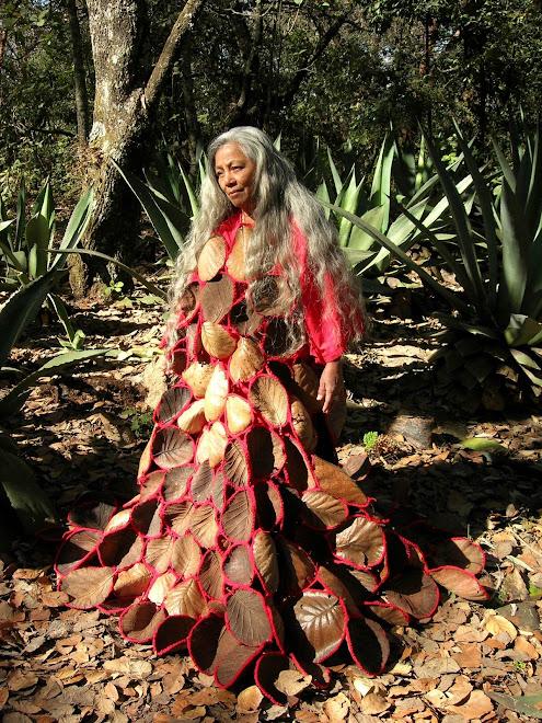 mi vestido de mujer árbol danzado en el Huixteco