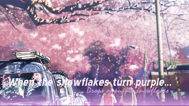 When the snowflakes turn purple....