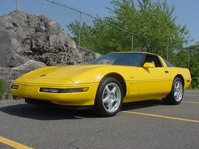 Yellow Chevrolet Corvette