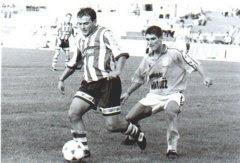 Juan Antonio en una accion con el Algeciras