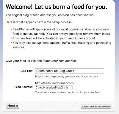 FeedBurner como usar