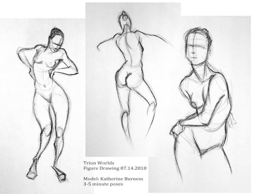 Figure Drawing Model Poses