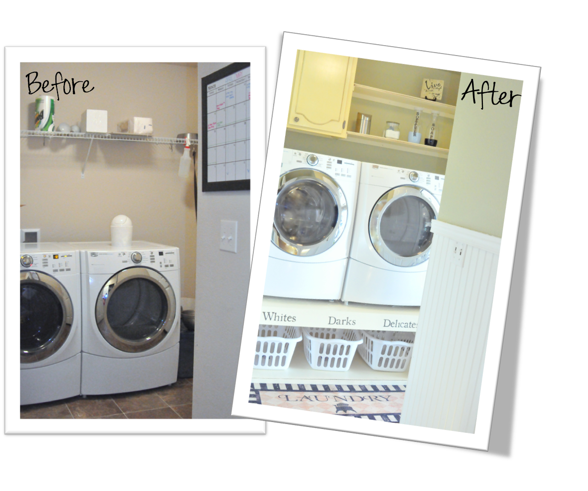 A snazzy laundry room makeover (she: Emily) - Or so she says...