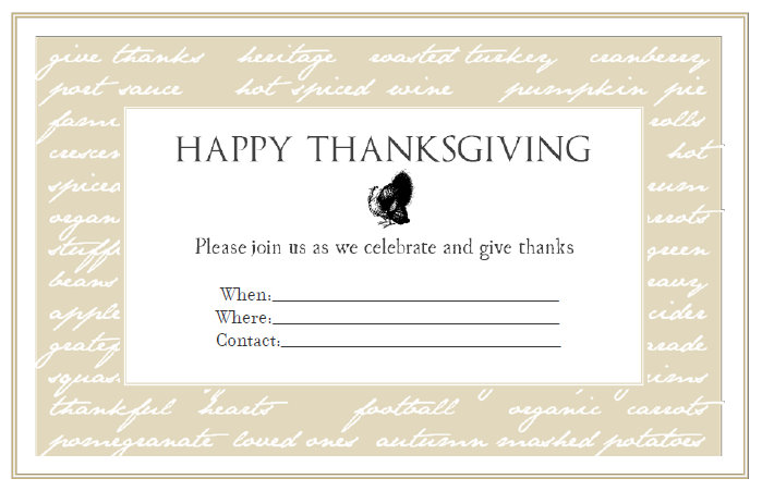 Finding My Aloha Free Printable Thanksgiving Dinner Invitations – Printable Dinner Invitations