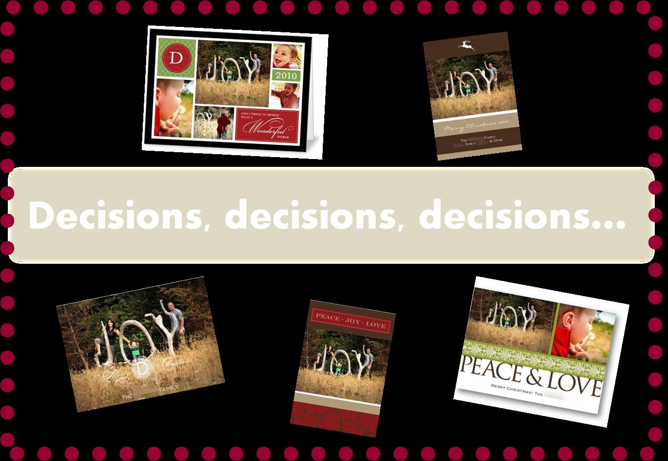 Finding My Aloha: Help me pick my Christmas Card...please!