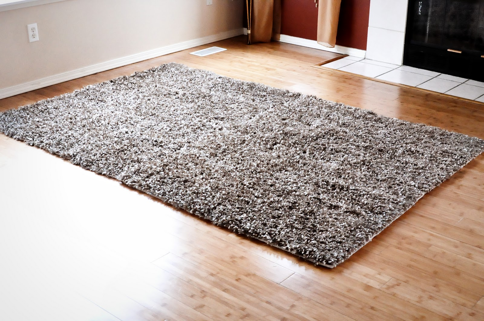 Finding my aloha diy how to turn accent rugs into large for Throw rug on top of carpet