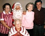 Mom, Santa, Mert, John & Grandma Dot
