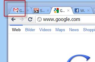 Beispiel Google Mail-Lab Symbol für ungelesene Nachrichten