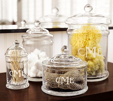 Bathroom Vanity Jars the crafty life: easy replication