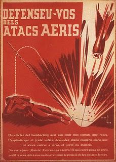 cartel guerra civil barcelona bombardeo