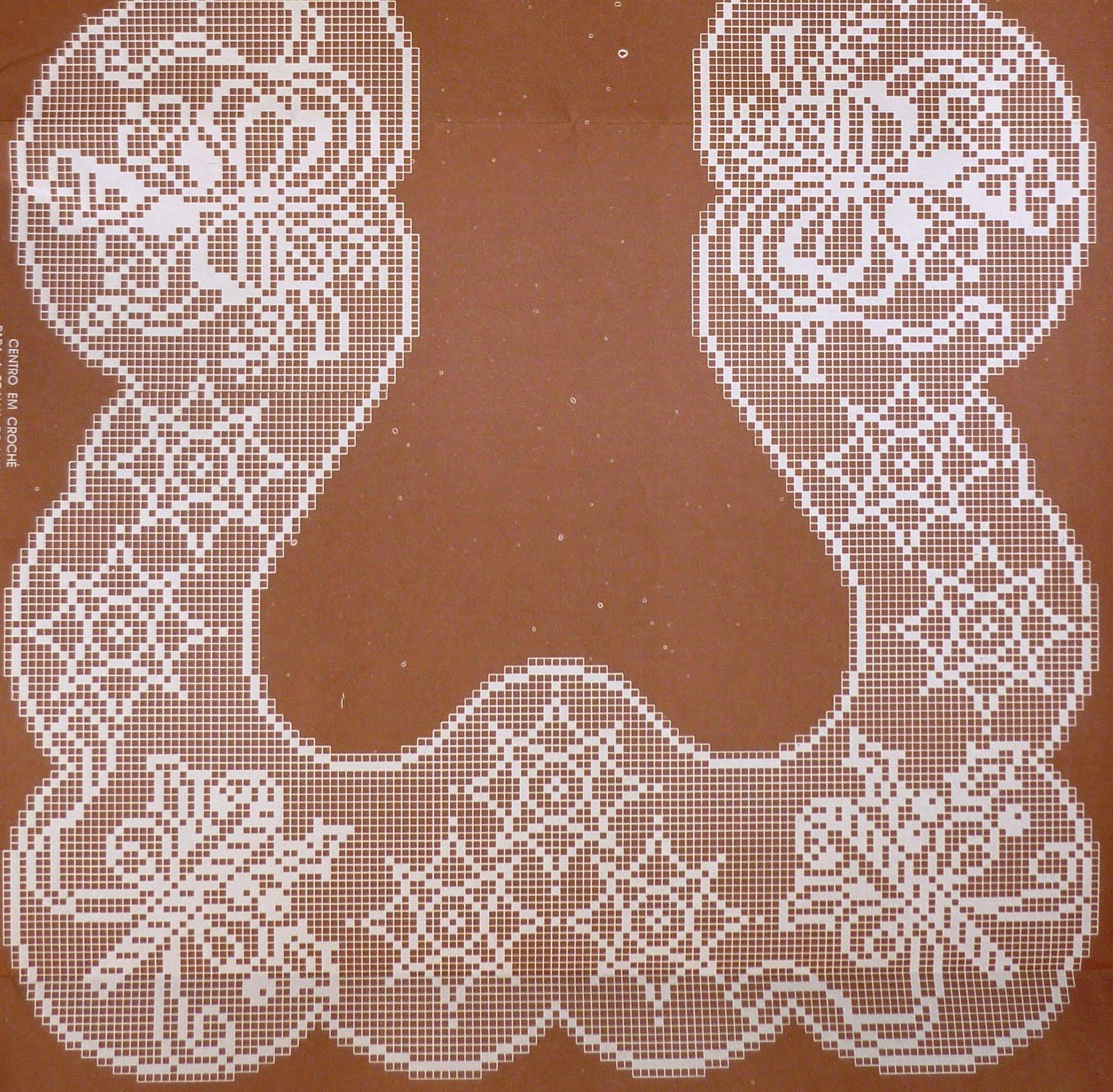 Новогодняя скатерть крючком филейное вязание 76
