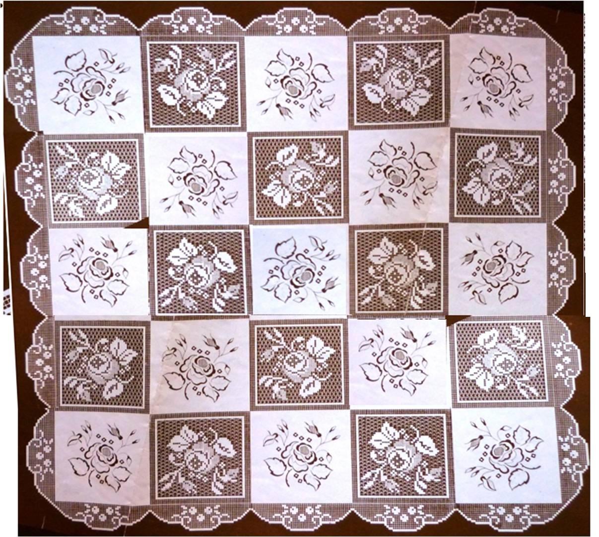 Toalhas De Mesa Em Crochet