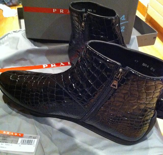 Prada Crocodile Boots