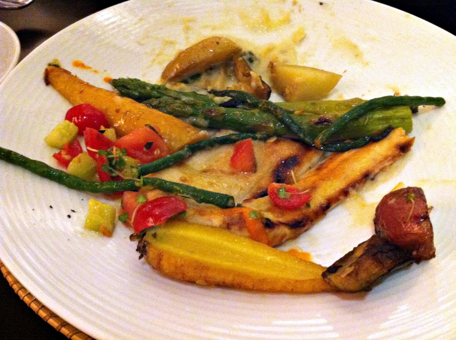 Vegan plate at Josselin's Tapas