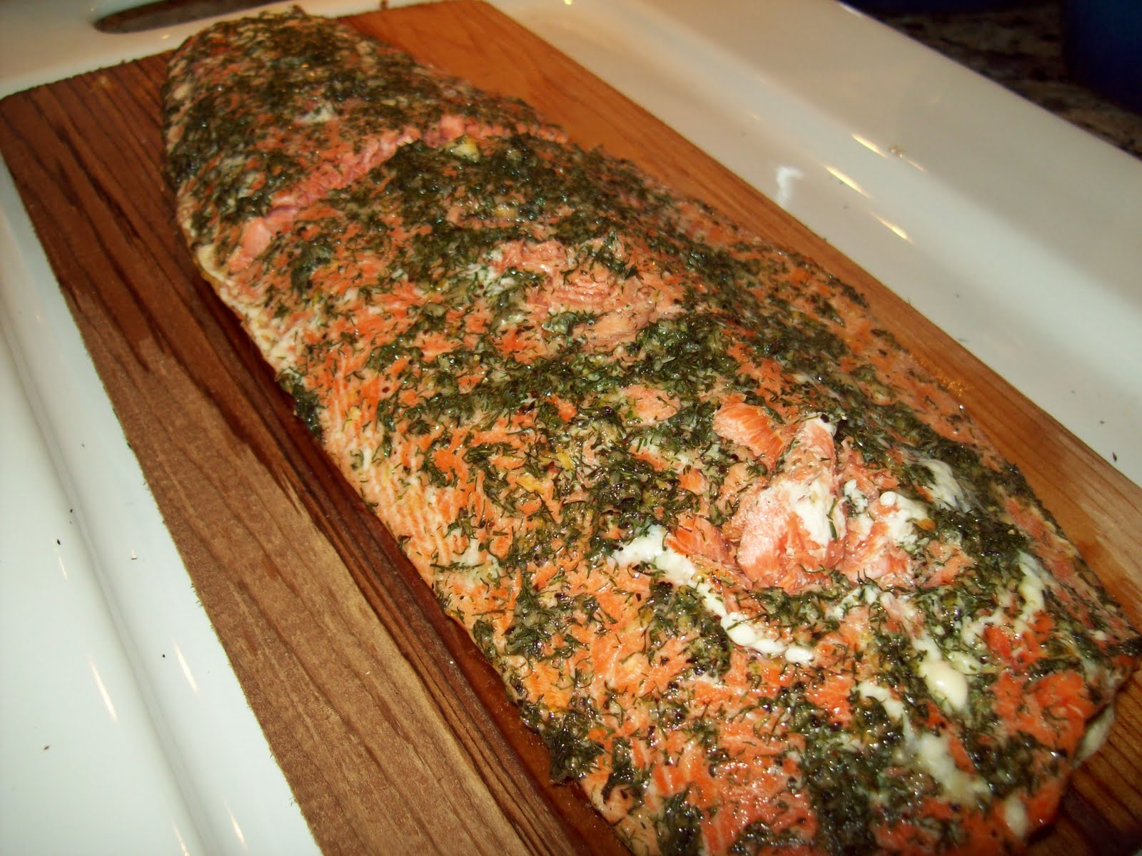 Lori's Test Kitchen: Dill Cedar Plank Salmon