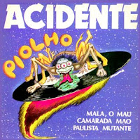 Piolho de Halley, capa do EP Piolho gravado em 1985 pela banda de Rock Acidente