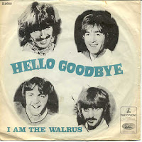 Capa original do compacto Hello Goodbye, que traz I Am The Walrus no lado B. Imagem http://en.wikipedia.org/wiki/User:ClonedPickle