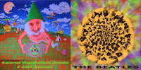 Beatles - Colored Psychedelic Smoke & LSD Glasses