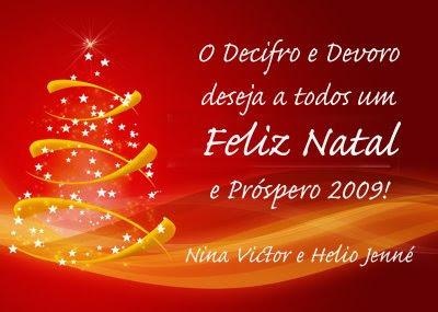 Feliz Natal a todos e Próspero Ano Novo!
