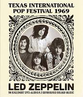 Cartaz da apresentação do Led Zeppelin no Texas Pop Festival, em 1969