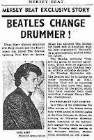capa do jornal Mersey Beat anuncia saída de Pete Best
