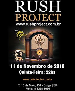Rush Project no Café PiuPiu dia 11/11