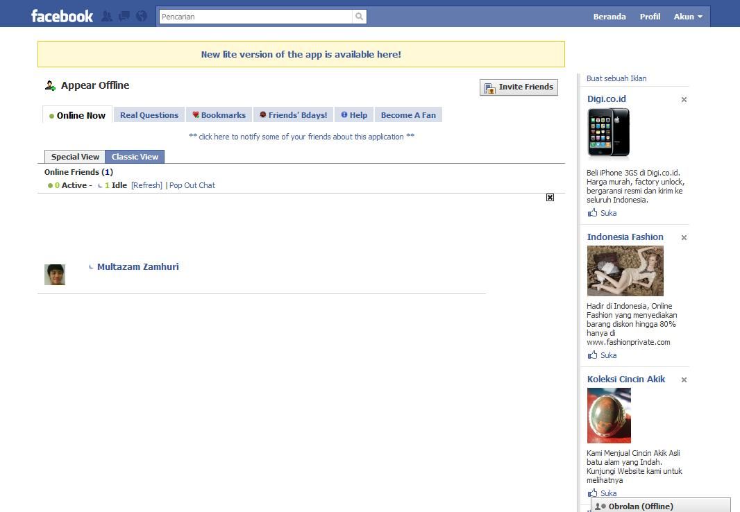 appear offline facebook