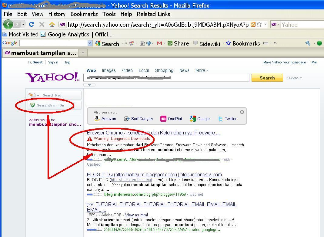 yahoo safe browsing