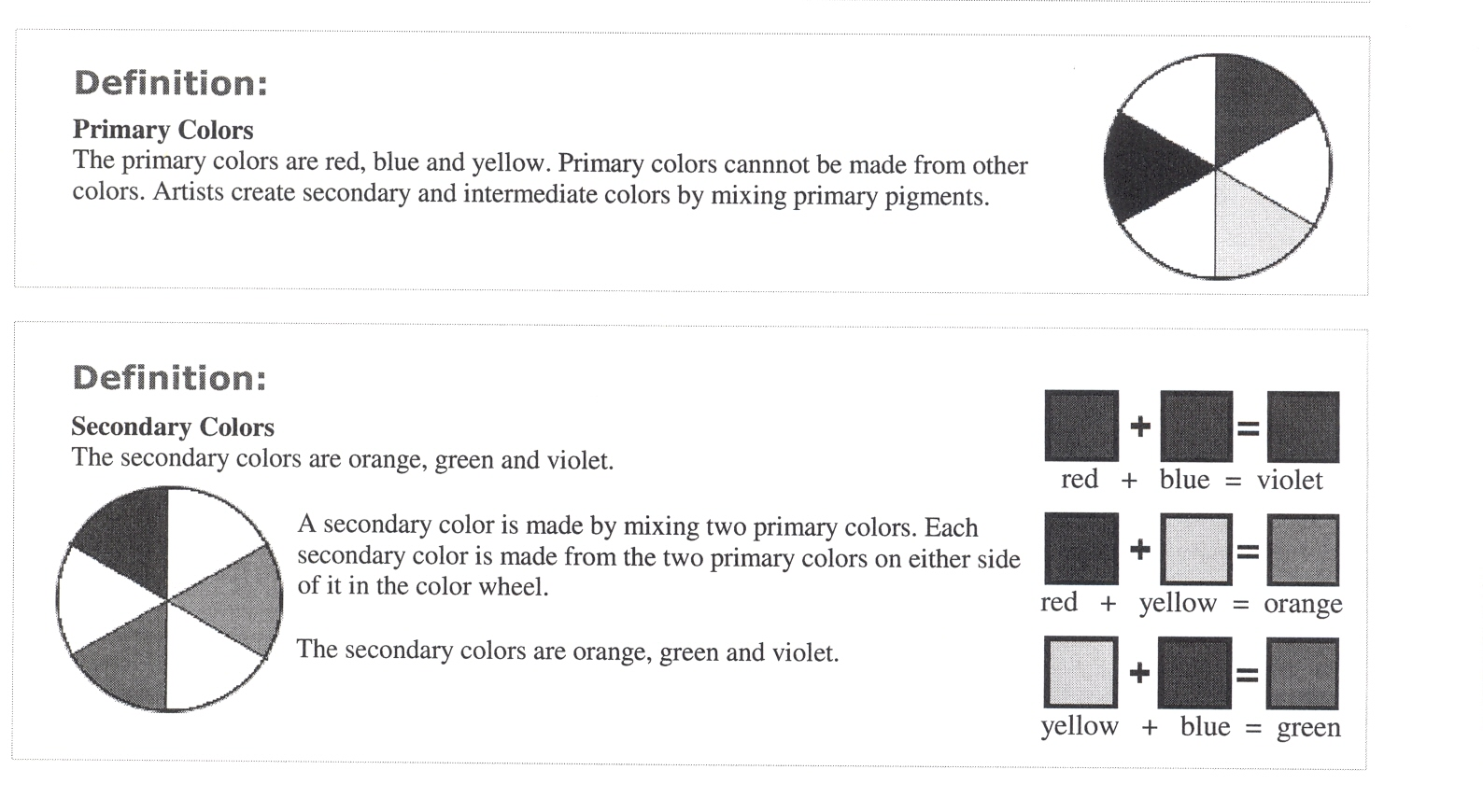 Paint The Tertiary Colours At This Stage Of Colour Wheel Process
