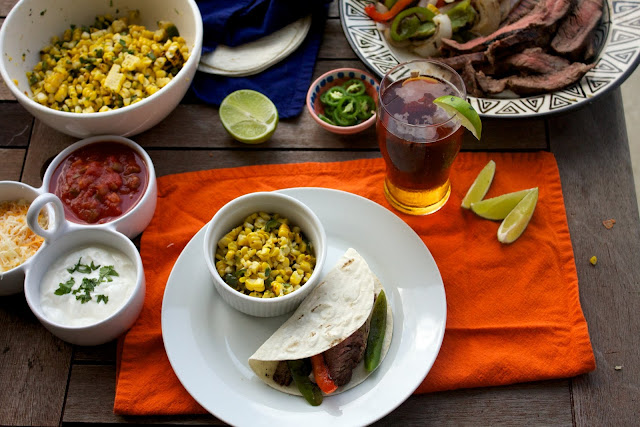carne+asada+and+corn Big Taste Small Budget   Carne Asada and Cilantro Lime Corn
