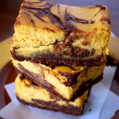 chocolate+pumpkin+cheesecake+bars stacked Chocolate Pumpkin Cheesecake Bars
