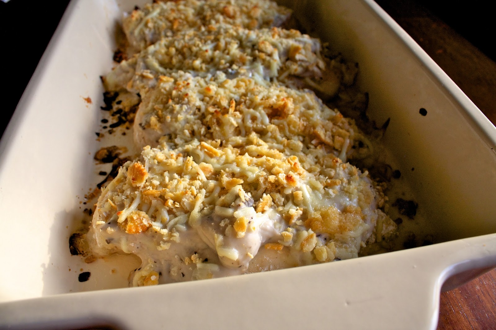 Baked Chicken with Creamy Mushroom Sauce — Our Family Eats