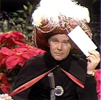 Johnny Carson mind reader