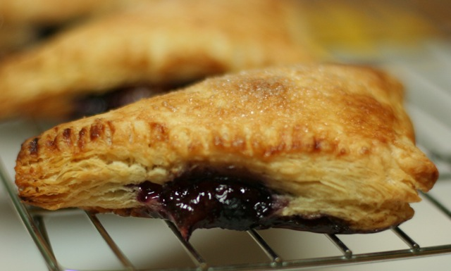Quick and Easy Peach-Blueberry Turnovers