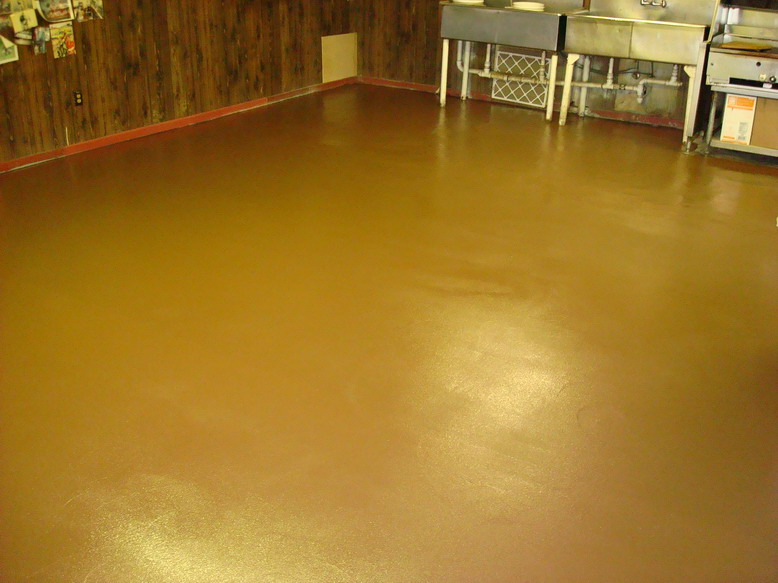 Epoxy Floor Coating In Restaurant Kitchen