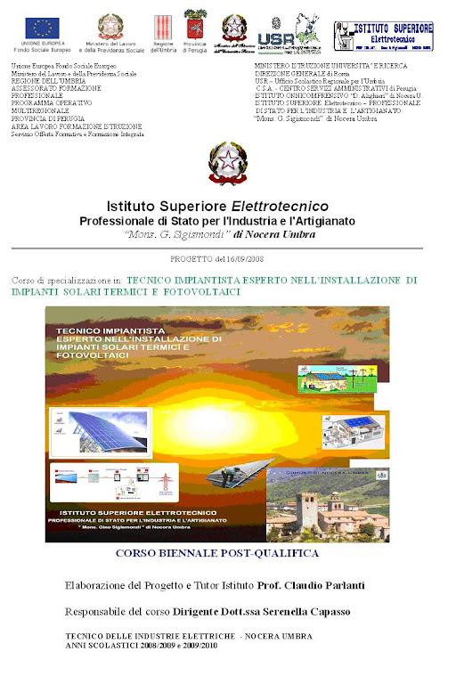 Progetto di Specializzazione Tecnica biennale di 600h