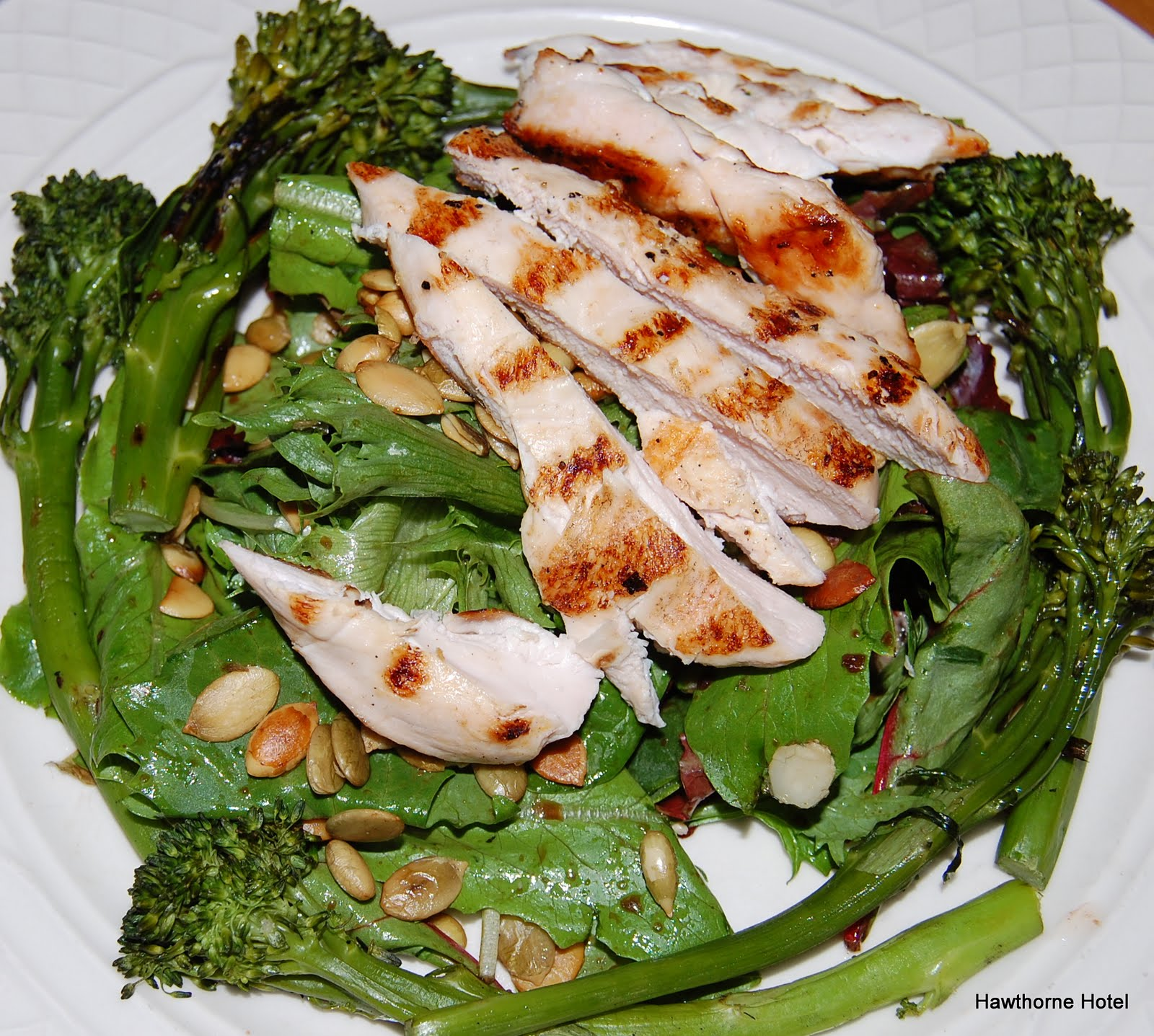 Grilled Chicken Breast Salad with Roasted Broccolini and Toasted ...