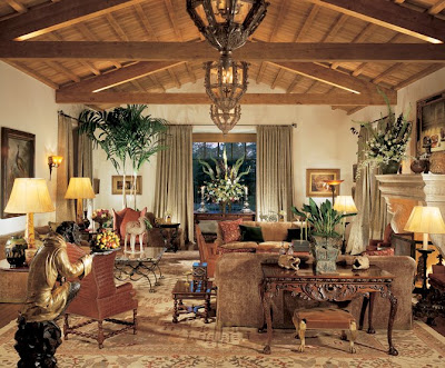 Spanish Colonial interiors can be quite elegant or extremely casual