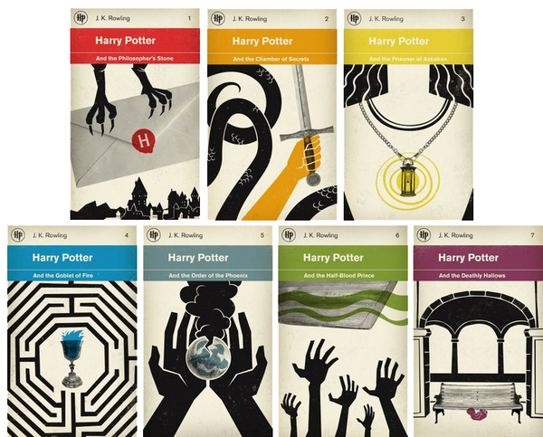 Classic Book Covers Redesigned : Dreams happy things the many covers of harry potter