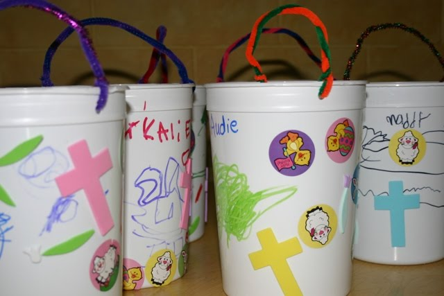 A recycled container becomes an easter basket blessings overflowing a recycled container becomes an easter basket negle Images