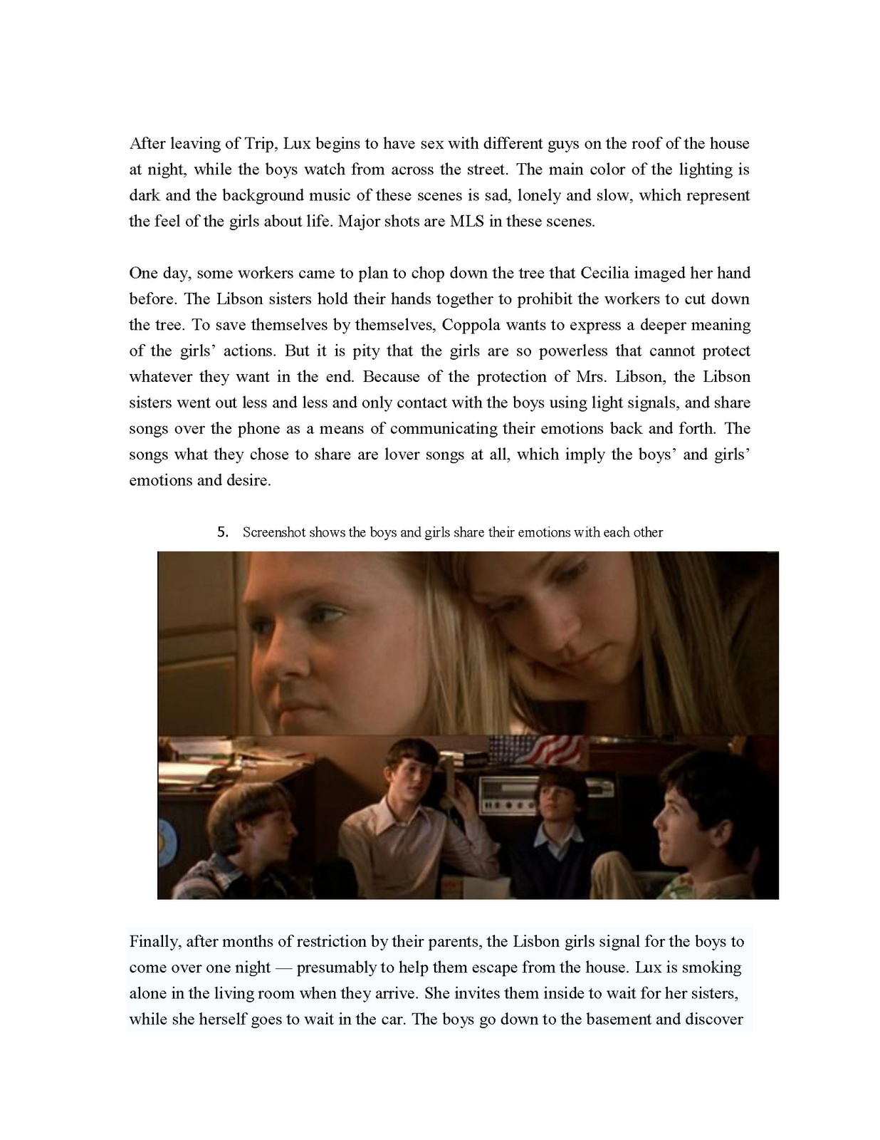 the virgin suicides analysis